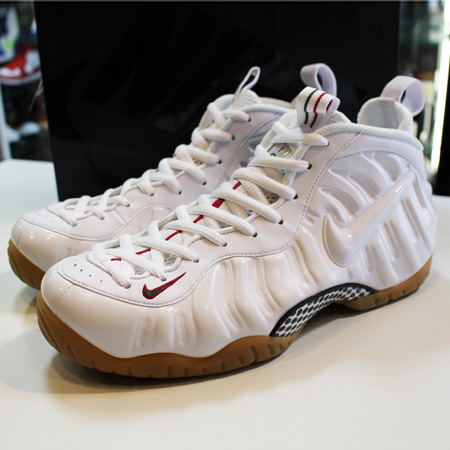 NIKE AIR FOAMPOSITE PRO WHITE GUCCI