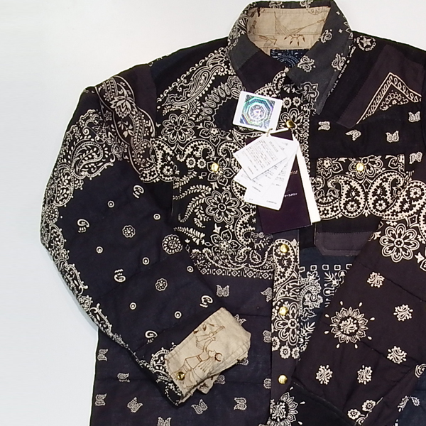visvim ICT KERCHIEF DOWN JKT BLACK