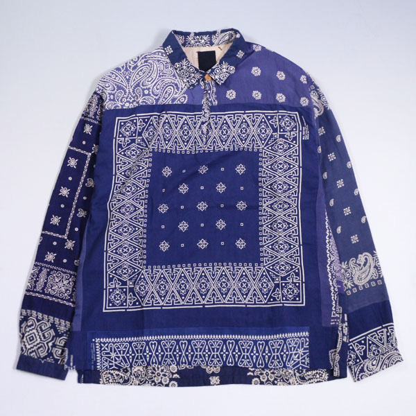 18ss visvim ICT KERCHIEF TUNIC SHIRT NAVY