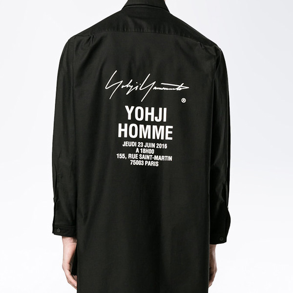 Yohji Yamamoto ハイローヘムシャツ