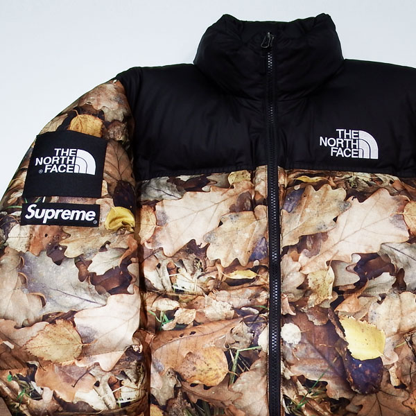 16aw Supreme The North Face Nuptse Jacket Leaves