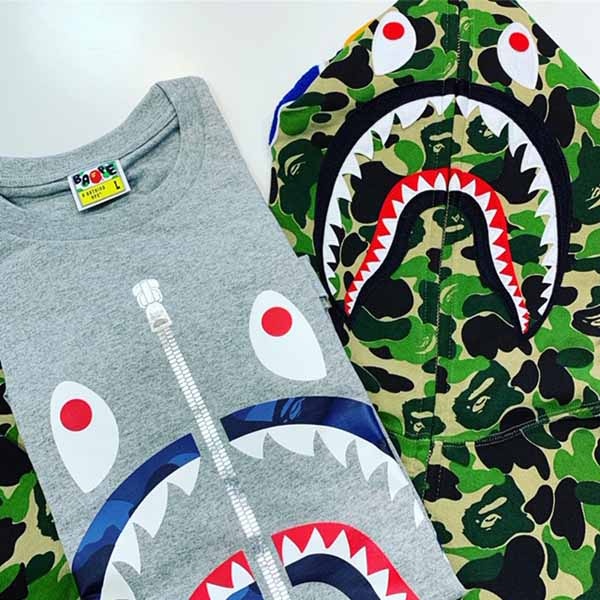 APE SHARK FULL ZIP 買取り