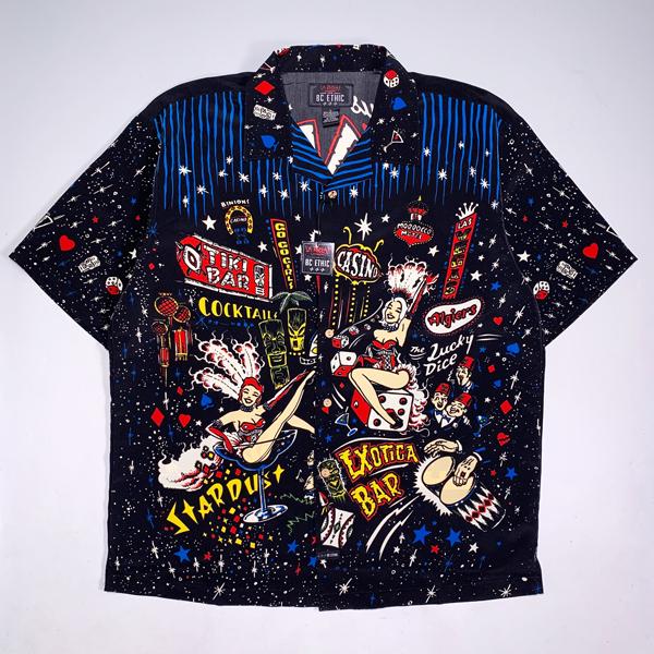 LA ROCKA ラスベガス柄 半袖シャツ