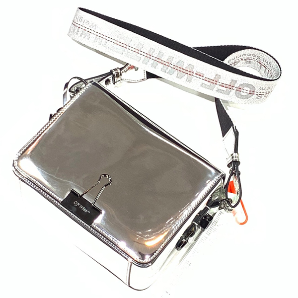 MIRROR FLAP BAG OFF-WHITE