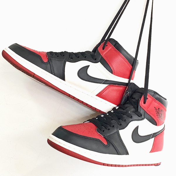 NIKE AIR JORDAN1 RETRO HIGH OG BRED TOE