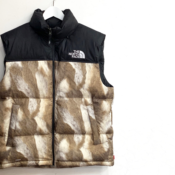 Supreme The North Face Fur Print Nuptse Vest 買取りました
