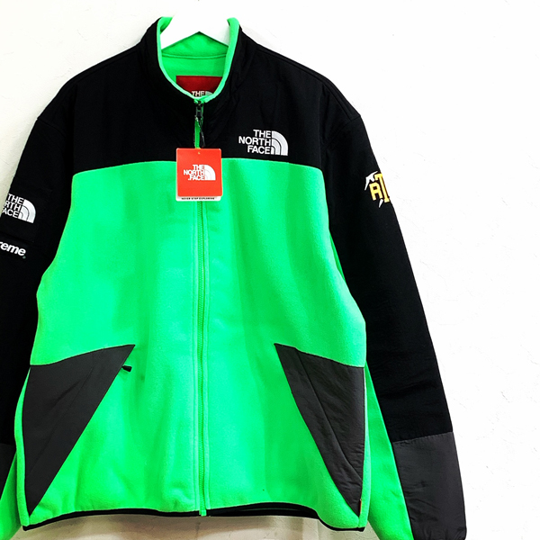 Supreme The North Face RTG Fleece Jacket bright green 買取り