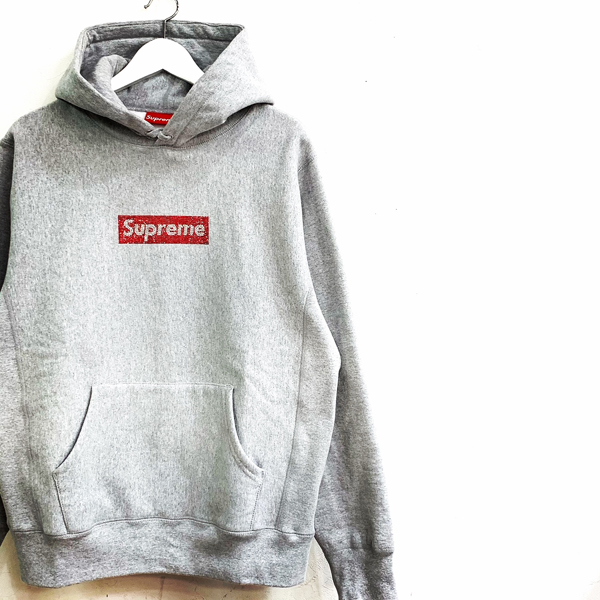 19ss Supreme Swarovski Box Logo Hooded SweatShirt  買取りました