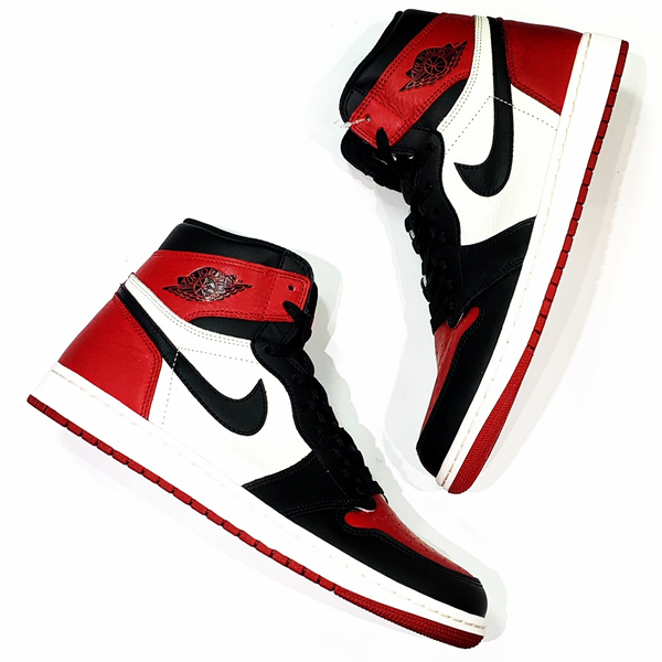 NIKE AIR JORDAN1 RETRO HIGH OG BRED TOE つま黒 買取りました